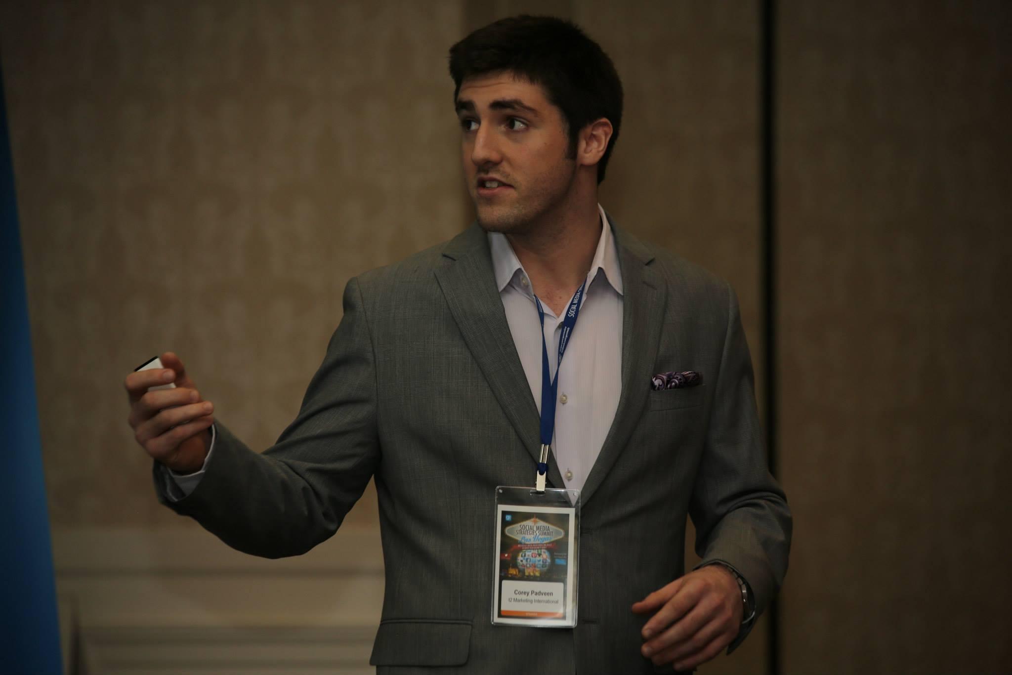 Corey Padveen Marketing Speaker
