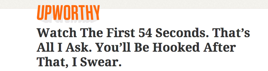 Clickbait example from Upworthy