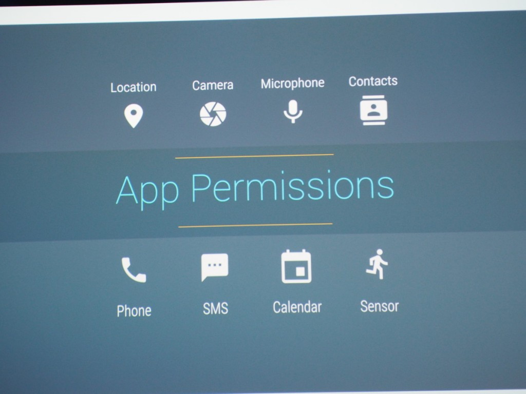 App Permissions were part of the announcements from Google I/O